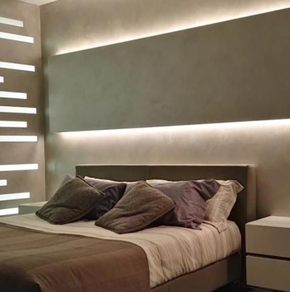 arredamento illuminazione per interni camera da letto barre led Abilux Led italia