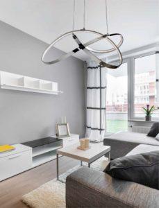 abiluxled italia illuminazione interni lampadario soggiorno living ellittico led moderno bianco idee arredo moderno design vigevano pavia milano lombardia