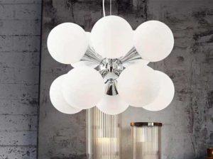 lampadario bolle Abilux led Italia arredamento luminoso design